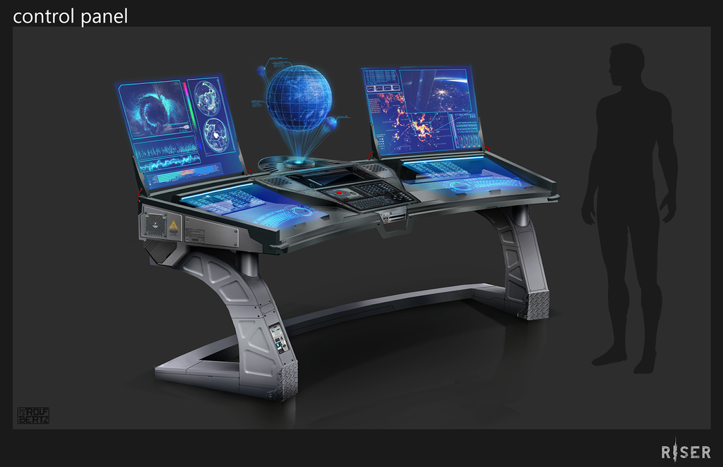 Sci Fi Control Levers : Control panel concept by rofelrolf viantart on