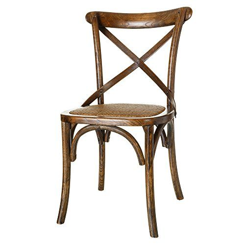 Lola derek silla de comedor vintage marr n de madera for Sillas de madera para salon