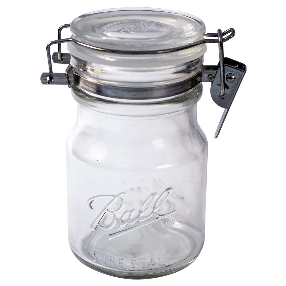 Ball 38oz sure seal glass mason jar with wire bail lid