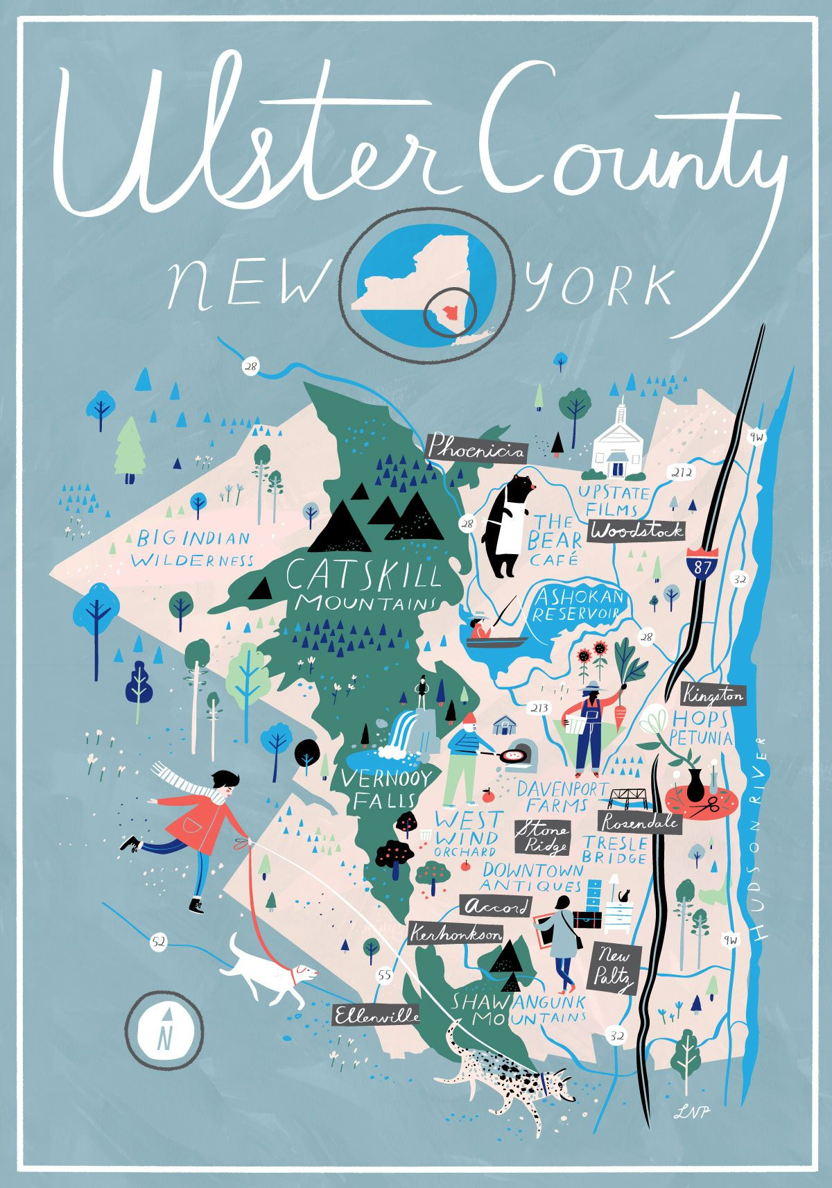Pin By Frederique Herault Jehanno On Infographics Ulster County County Map Illustrated Map