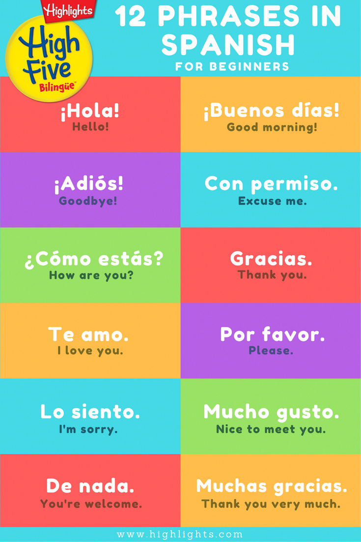 Celebrate Cinco de Mayo with your kids by introducing some simple Spanish phrases, brought to you by High Five Bilingüe! #spanishlessonactivities #spanishthings