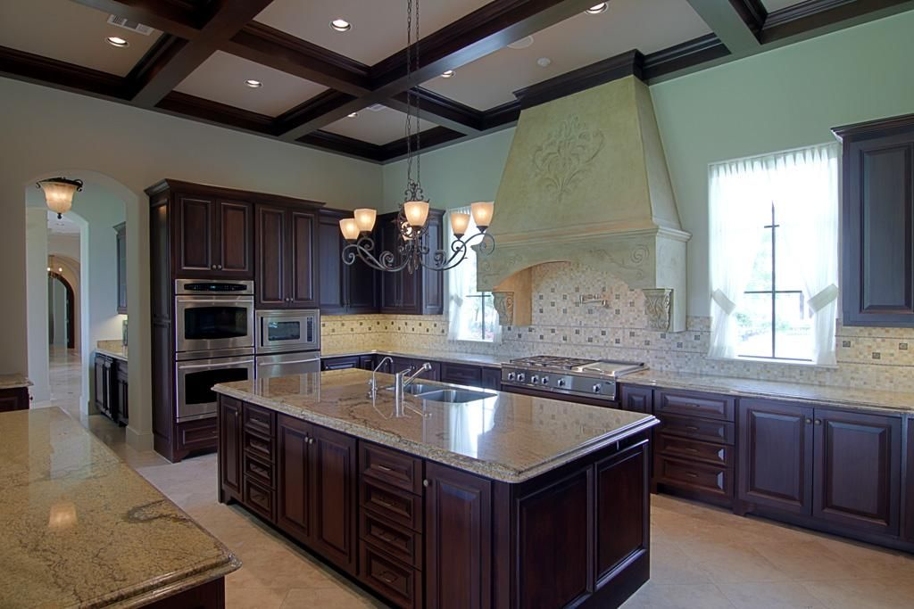 Fabulous gourmet kitchen! Beamed ceiling, Commercial grade ...
