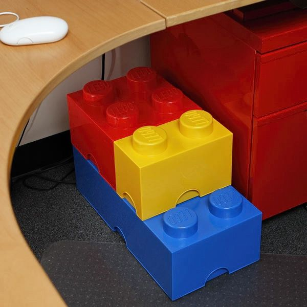 Lego Storage Brick 8 Red Stackable Storage Bin by LEGO Quirky but
