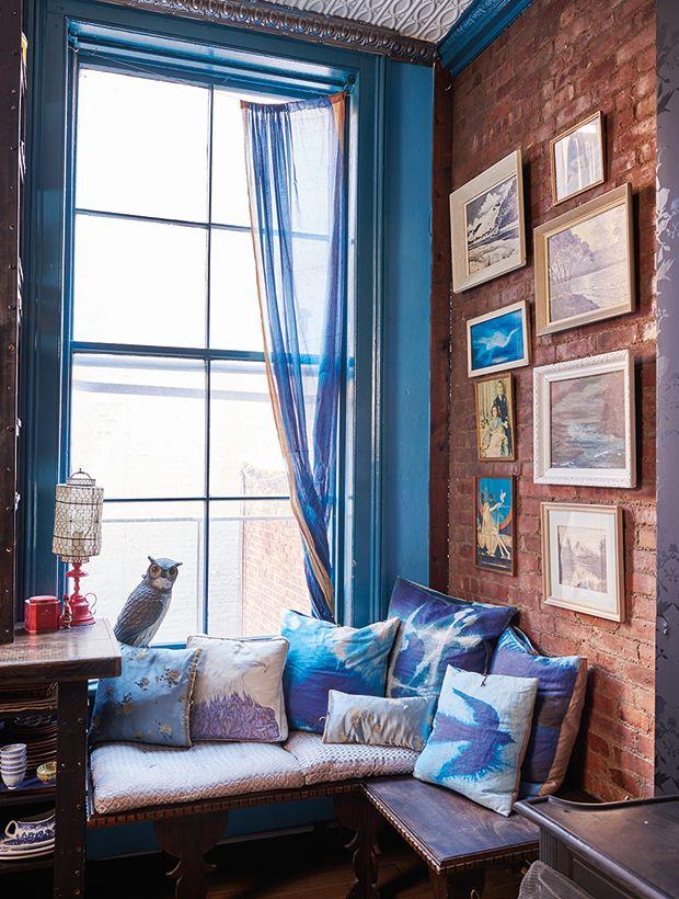 Décoration spectaculaire loft vintage éclectique style personnel sarcelle et décorations