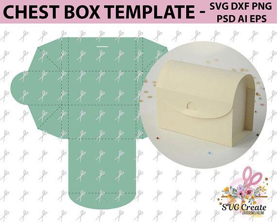 chest box template favor paper cut papercutting diy paper printable rh pinterest com