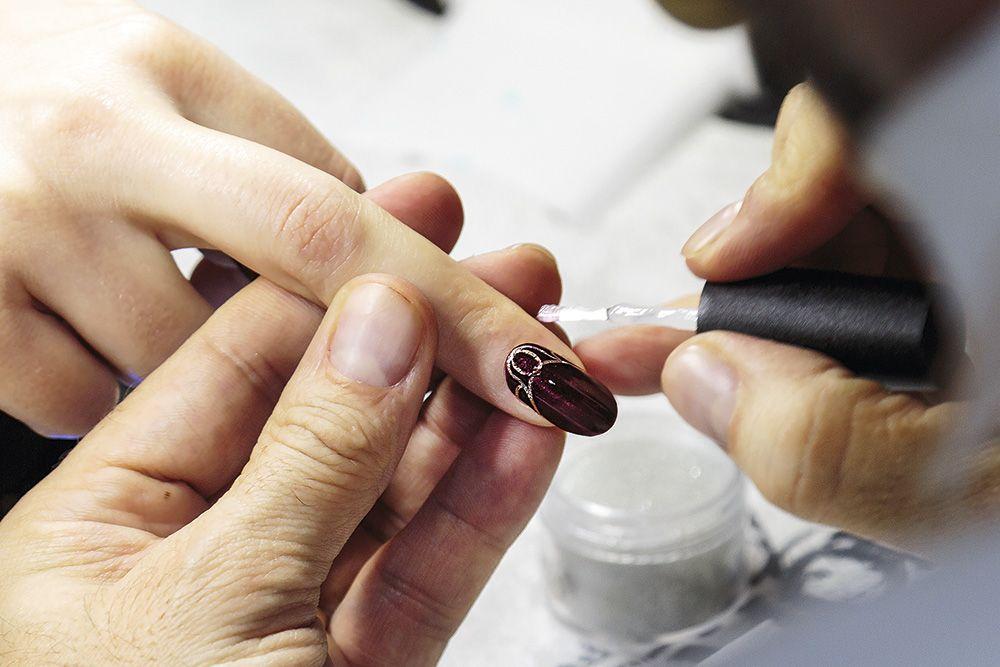 work in progress by Antonio Sacripante #nails&beauty #artisticcolorgloss #morgantaylor #red #french #manicure