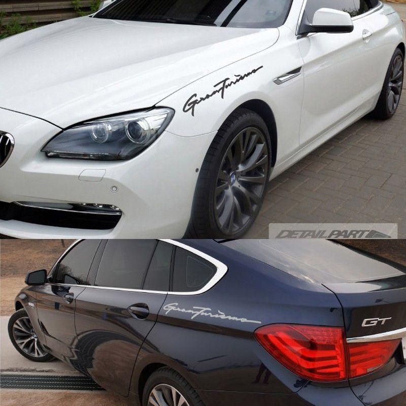 Detailpart GranTurismo GT Car Decal SIZE Sticker For - Bmw car decals stickers