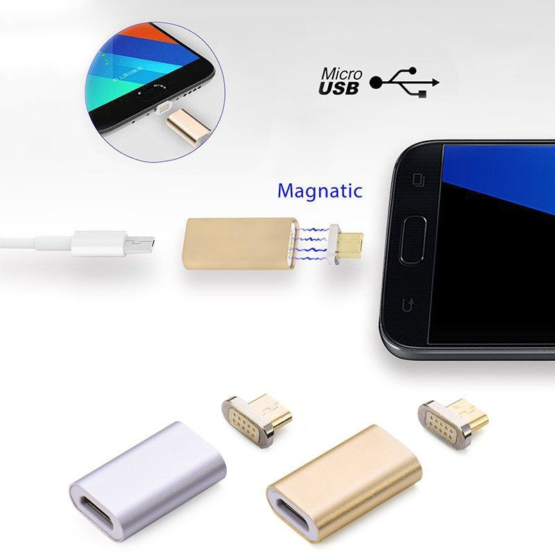 Android Magnetic Wire Transmission Connector Adapter Data Charger