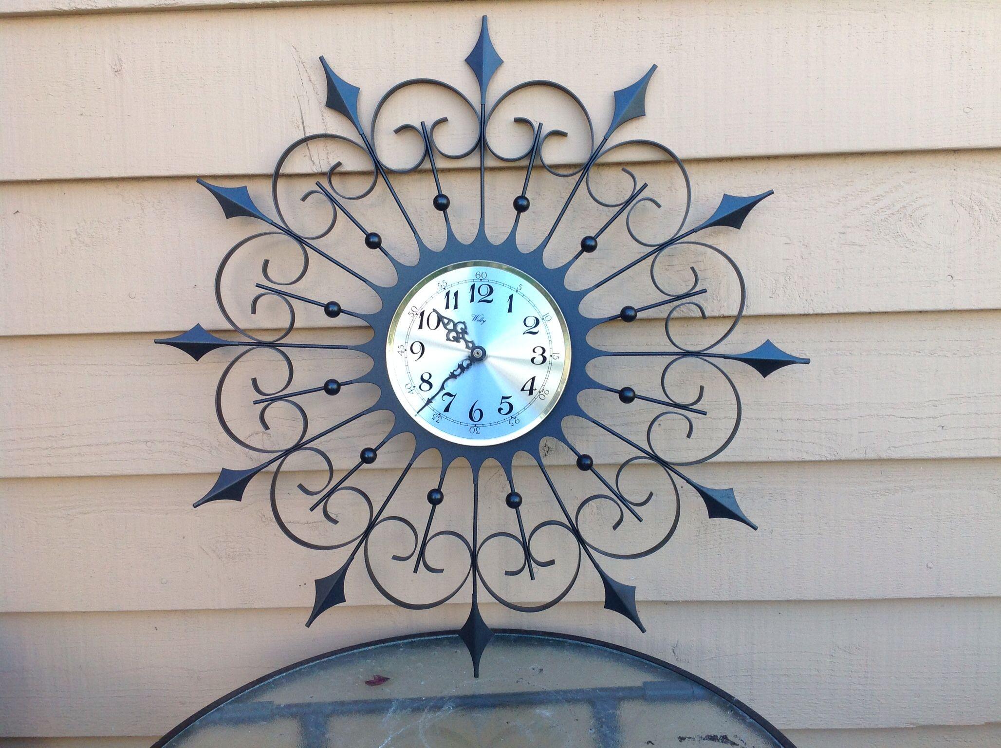1968 Elgin Spanish Wrought Iron Wall Clock Wall Clock Iron Wall Clock