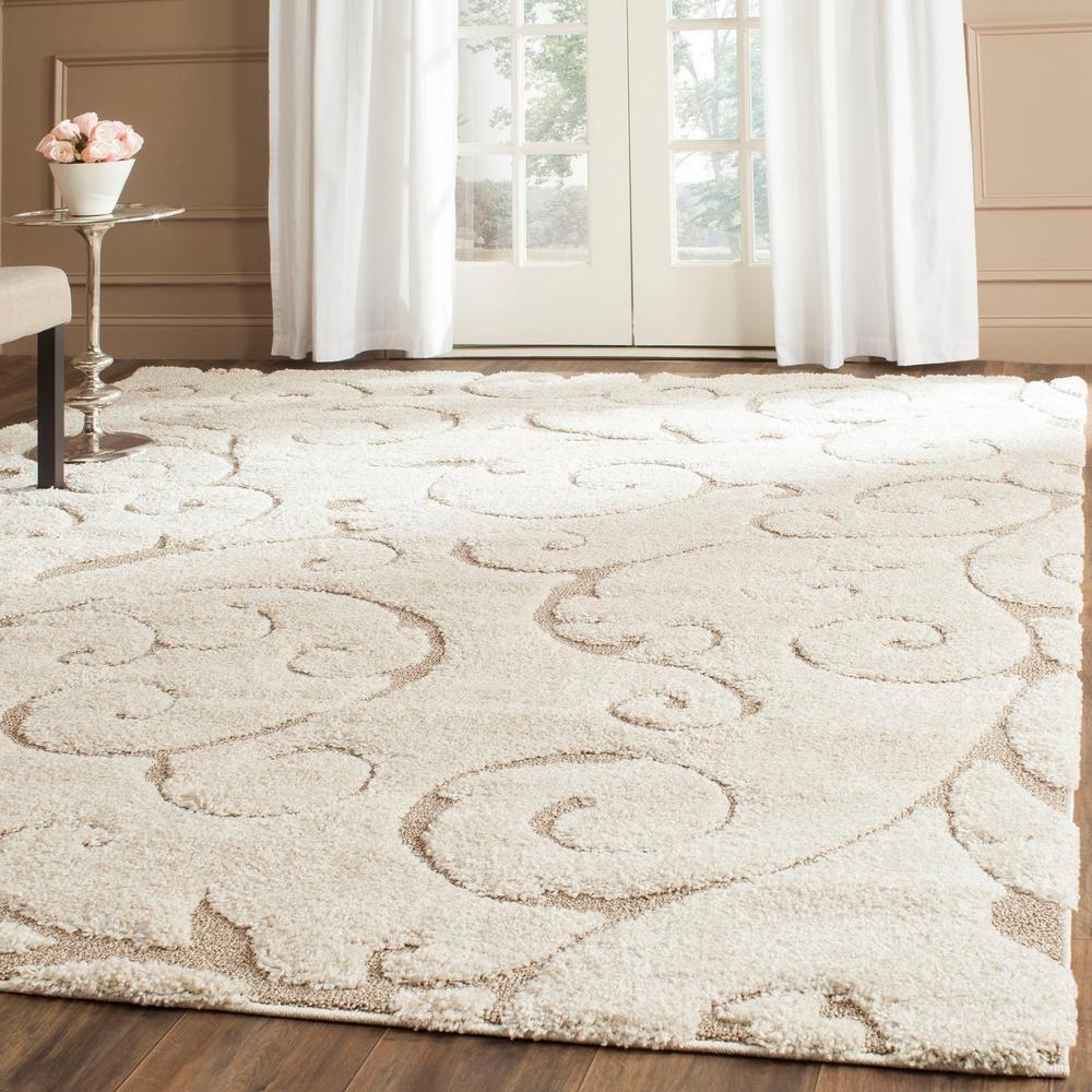 rug for living room size%0A Florida Shag Cream Beige  Ivory Beige    ft    in  x    ft  Area Rug  Living  Room