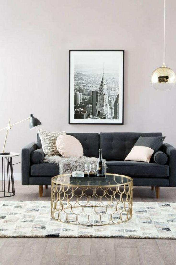 latest sofa designs for living room%0A Living room inspo   Gold d  cor accents   Gold cage coffee table   Gold  pendant lighting