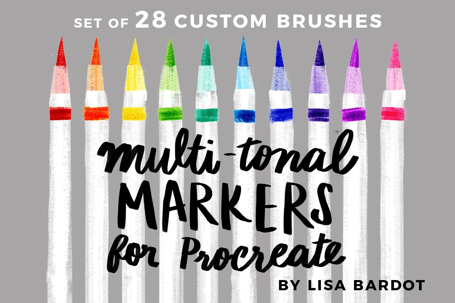 Multi Tonal Markers For Procreate Tonal Multi Markers Brushes
