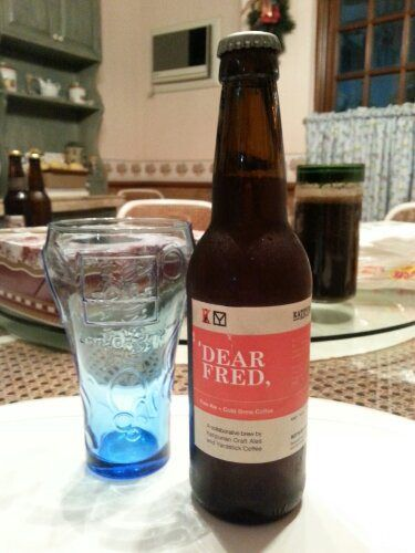 """Craft beer meets third-wave coffee. Read about what we thought about """"Dear Fred,"""" the collaboration between Katipunan Craft and Yardstick Coffee."""