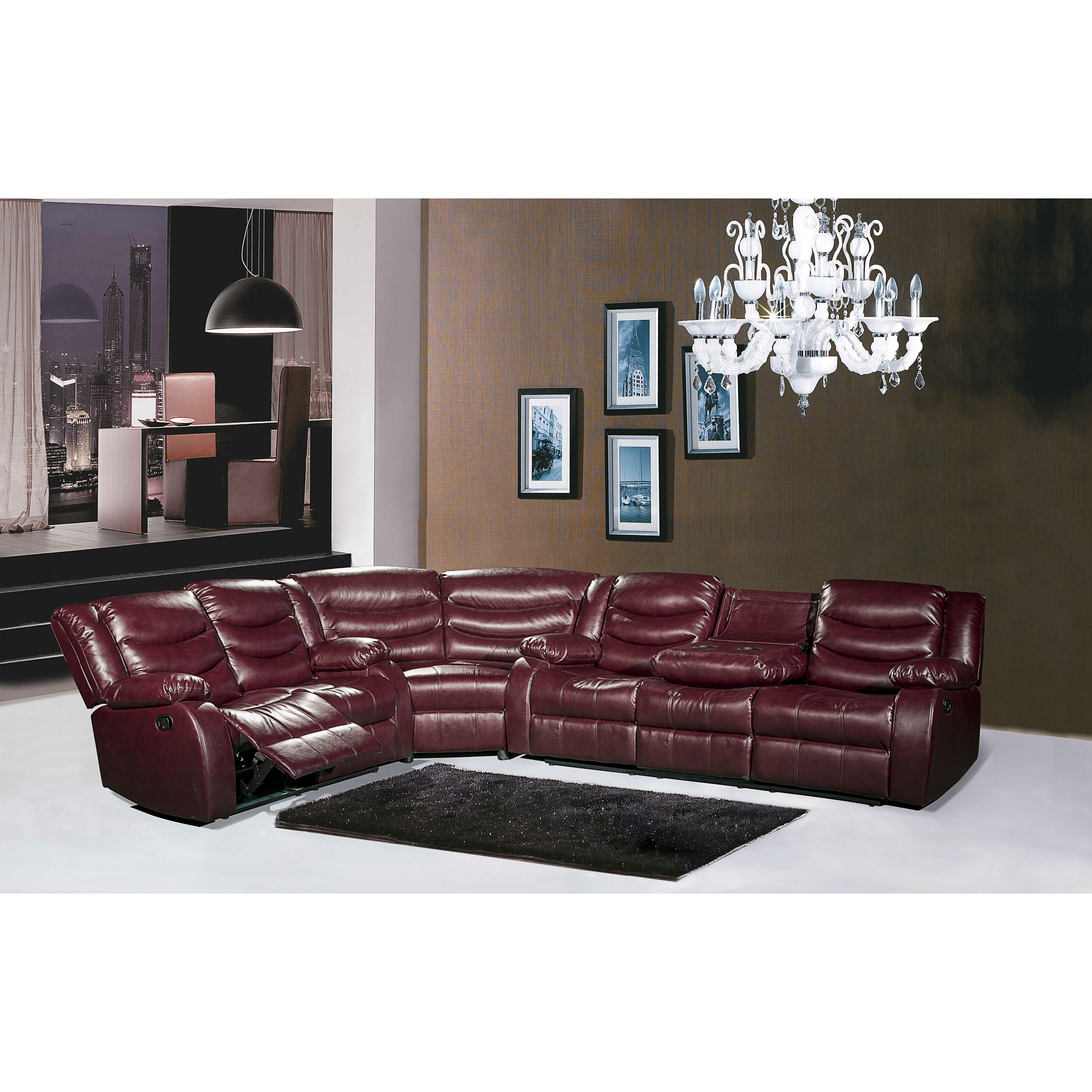 meridian gramercy leather reclining sectional sofa products rh pinterest com au