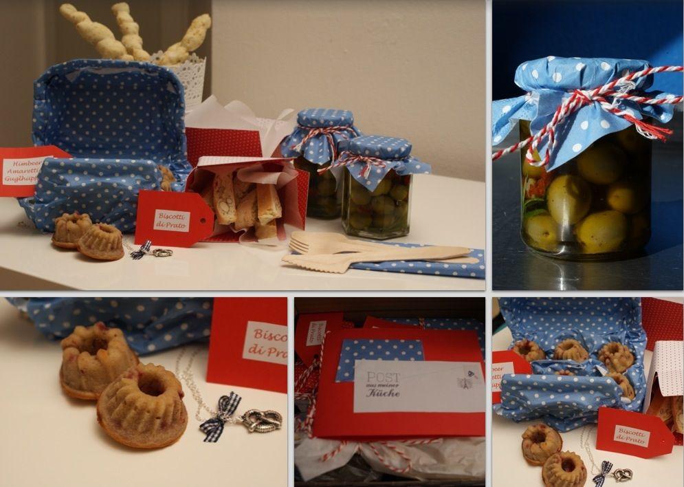 Post aus meiner Küche - Stockbrot, Oliven, Amaretto-Himbeer-Guglhüpferli und Biscotti di Prato