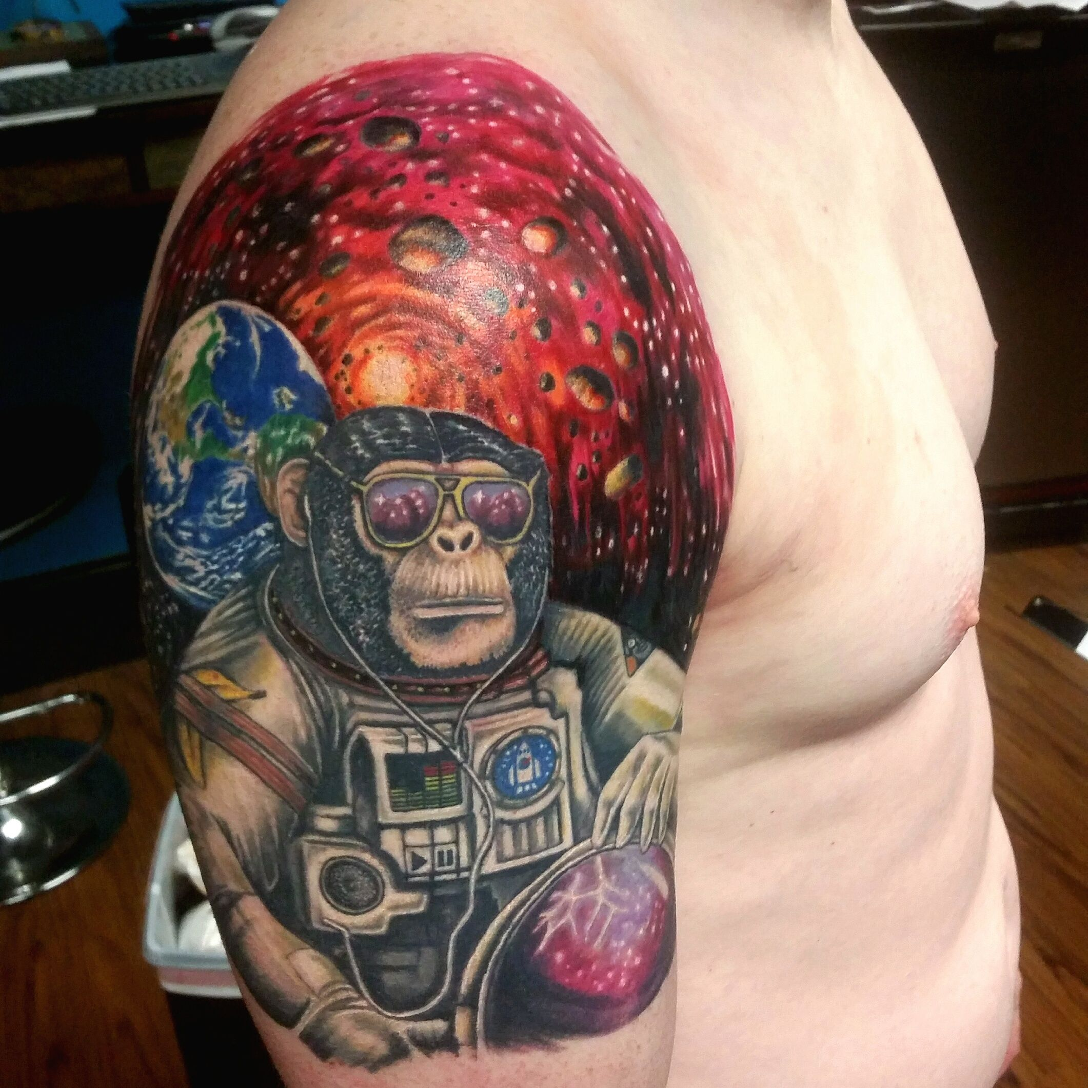 monkey tattoo headless hands custom tattoos shop kansas city