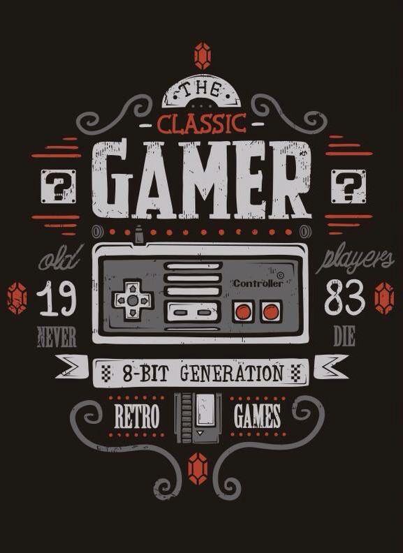 CLASSIC GAMER T-Shirt | Branding | Video game posters, Retro
