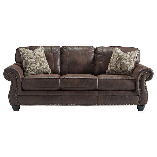 signature design by ashley breville espresso sofa furniture rh pinterest com