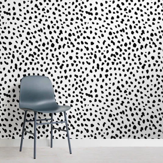 Best Black And White Dalmatian Speckle Wall Mural In 2020 640 x 480