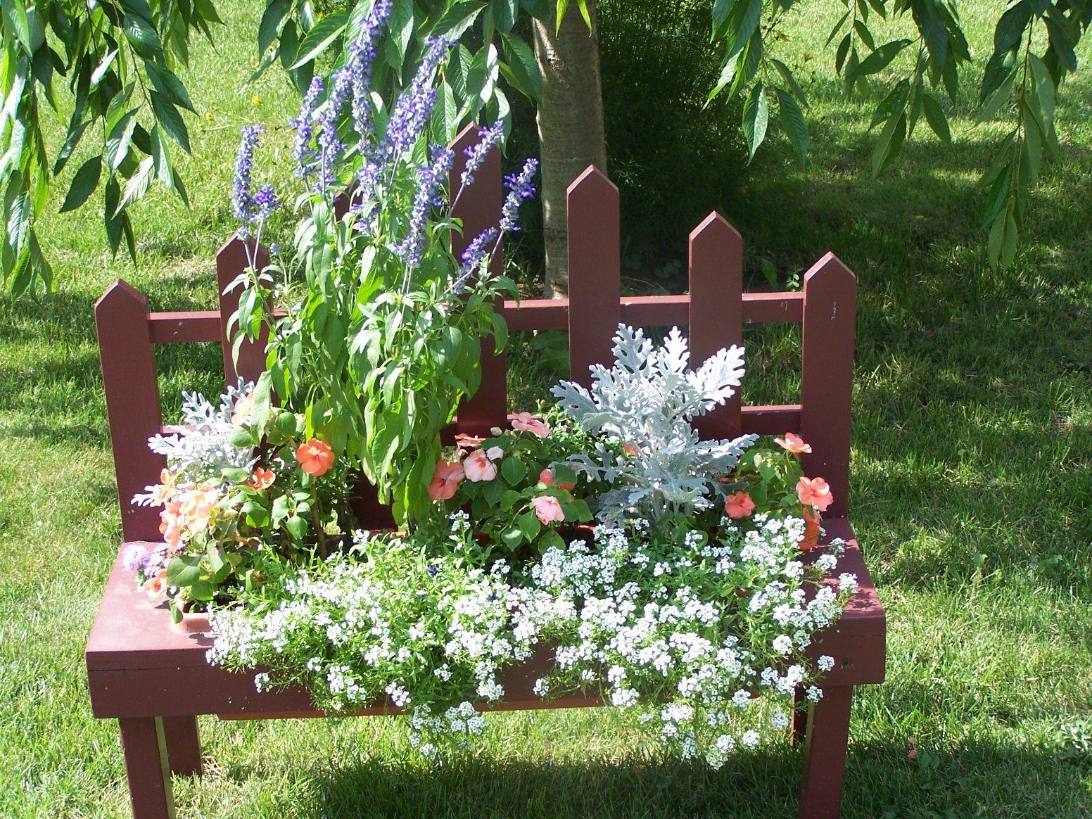 flower bench flower bench Flowers