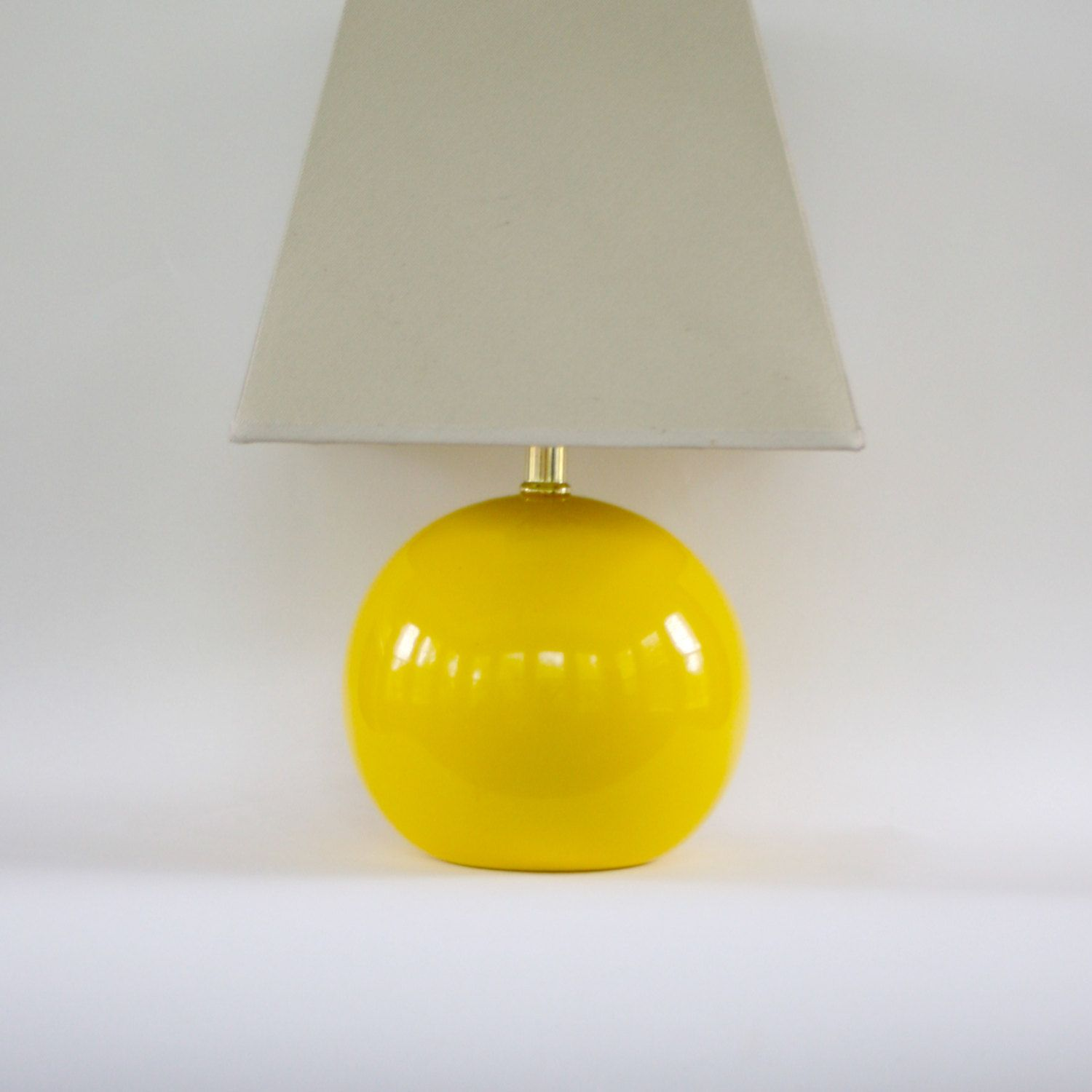 Vintage Modern Yellow Lamp Vintage Table Lamp by RhapsodyAttic   145 00. Vintage Modern Yellow Lamp Vintage Table Lamp by RhapsodyAttic