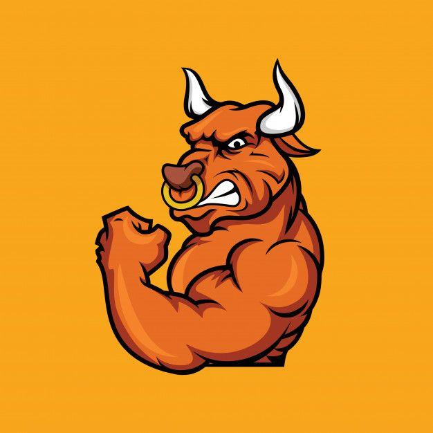 Mascular Bull Angry Mascot
