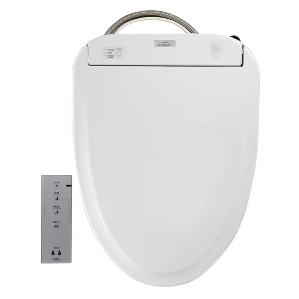 Toto S350e Washlet Electric Bidet Seat For Round Toilet With Ewater In Cotton White Sw583 01 The Home Depot Washlet Bidet Toilet Seat Bidet Seat