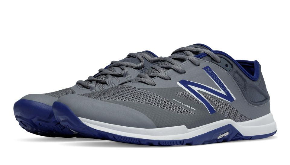 New Balance Hombre 20v5 Minimus Training Shoe, Grey/Toxic, 44 EU