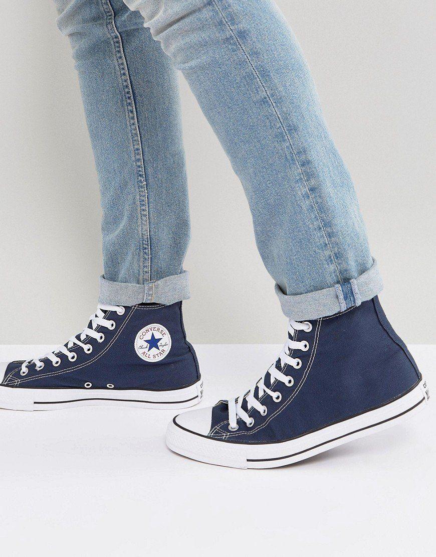converse blu navy uomo