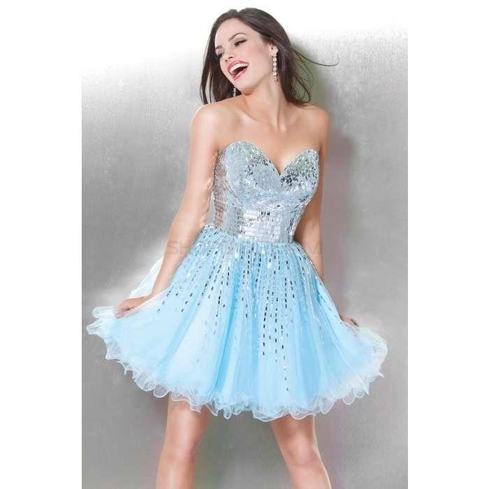 Light Blue Short Prom Dresses | Light Sky Blue Short Prom Dress ...