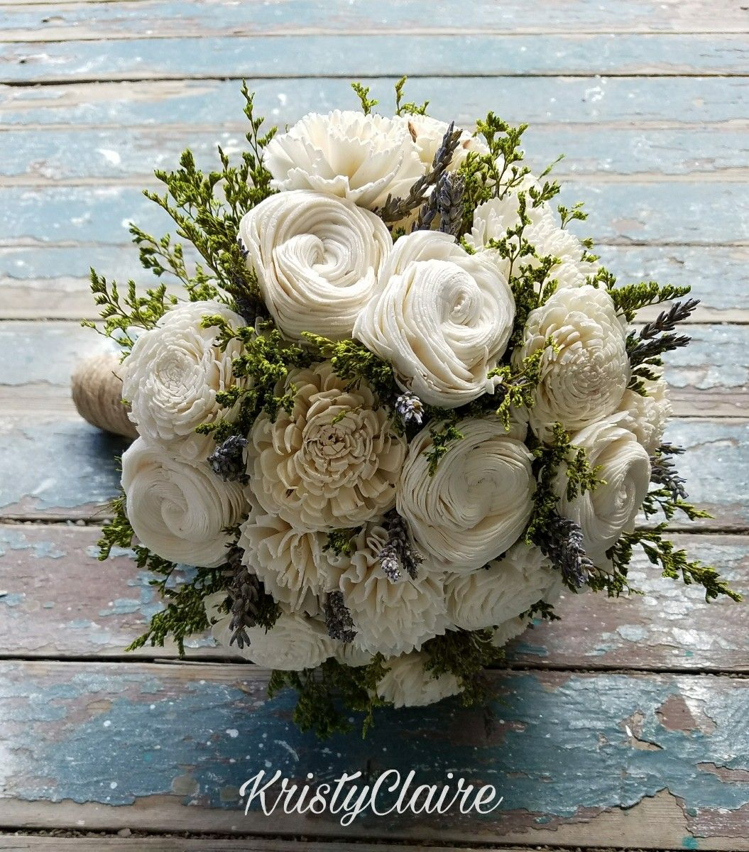 Sola Flower Bridal Bouquet With Lavender And Green Filler Www