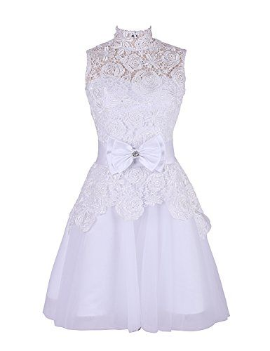 Dresstells Lace High Neck Prom Dress Wedding Dress Cocktail Party Dress for Women White Size 8 Dresstells http://www.amazon.co.uk/dp/B00Q4GZ00O/ref=cm_sw_r_pi_dp_nKTWub0NS6398