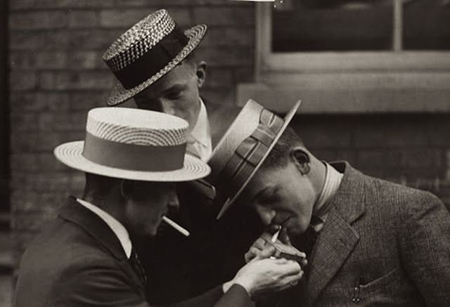7e3f43c1f95137 3 young men wearing straw boater hats and suits. | artists in 2019 ...