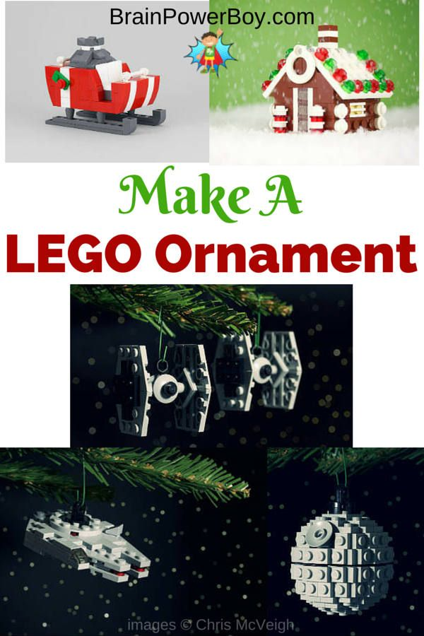 Directions for making one of these neat LEGO ornaments.