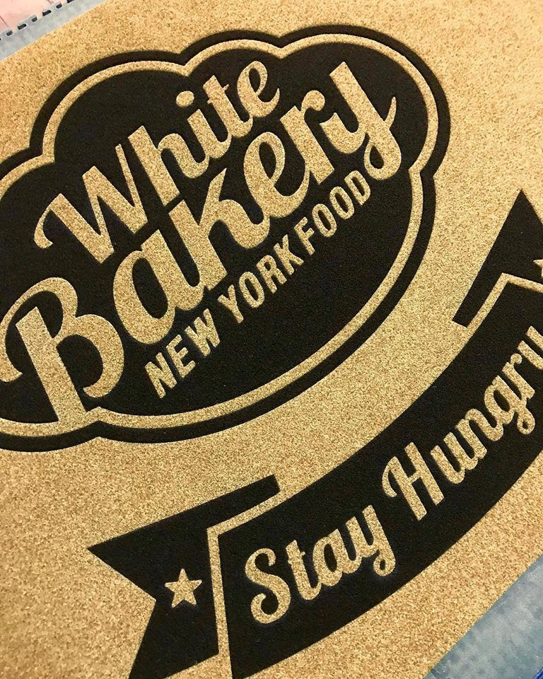 Tappeto personalizzato per White Bakery New York Food