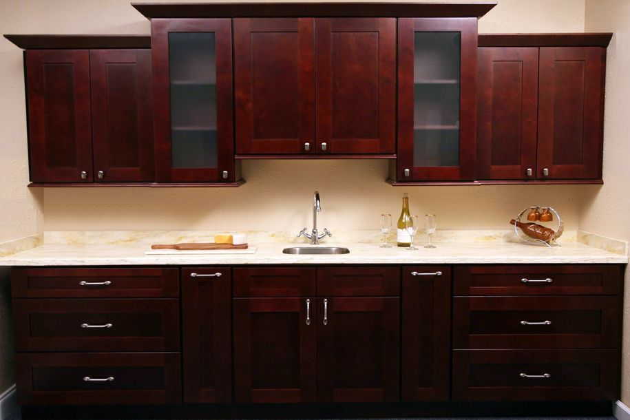 i like the cabinet knobs for the top cabinets and long handles for