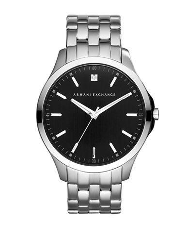 Armani Exchange Diamond and Stainless Steel Bracelet Watch Men's Silve