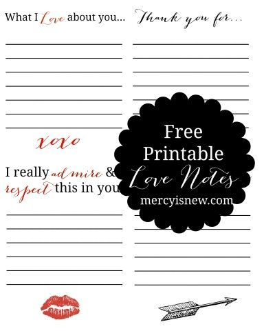 Free Printable Love Notes GRAPHIC Women Pinterest Note, Love - free printable anniversary cards for husband