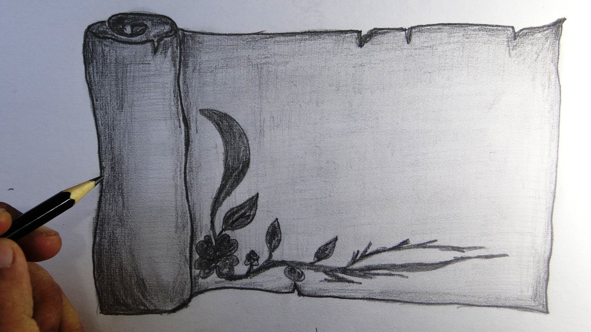 this is a drawing video of a scroll with a creative border. we, Wohnzimmer dekoo