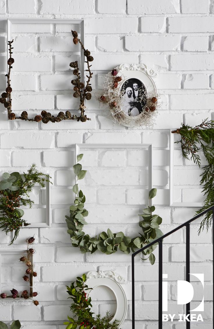vos decorations pour les vacances de noel se mettent au vert decouvrez nos idees diy pour un noel teinte de vert cadre knoppang ikeabe ideeikea