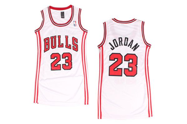 9d519e315 Women Basketball Jersey Michael Jordan #23 Chicago Bulls White Jersey