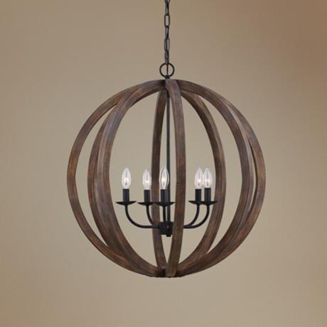 feiss allier 26 w weathered oak wood orb pendant light 6k586 rh pinterest com