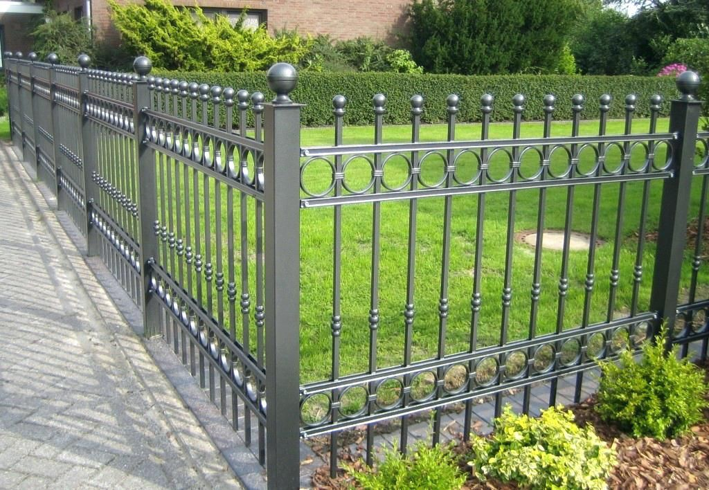 Beautiful And Elegant Wrought Iron Fence Panels Garden