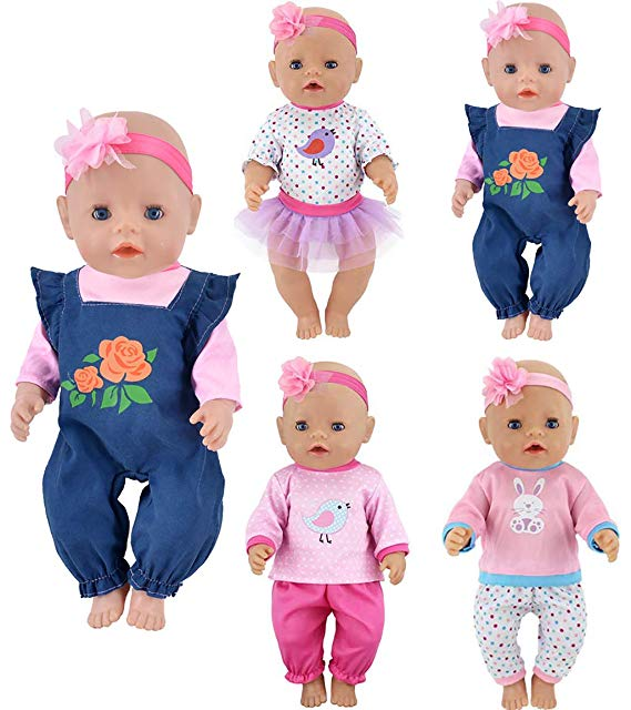 "Doll outfit set for 18 inch baby dolls clothes for 18/"" 43 cm for new born dolls"