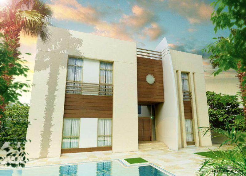 نموذج فيلا ليلي غرفة نوم رئيسية مع حمام أربع غرف نوم مع حمام House Styles House Design Architecture