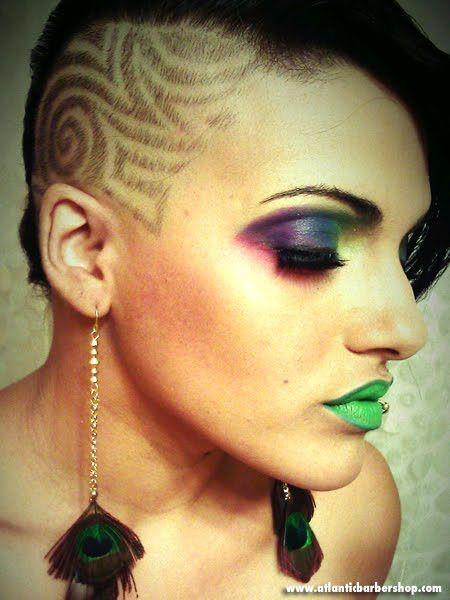 Barber Design For Women Barber Designs Hair Tattoo Designs Hair