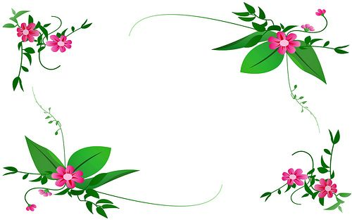 Pink flowers green vines border floral border pink floral borders pink flowers green vines border flickr mightylinksfo Choice Image