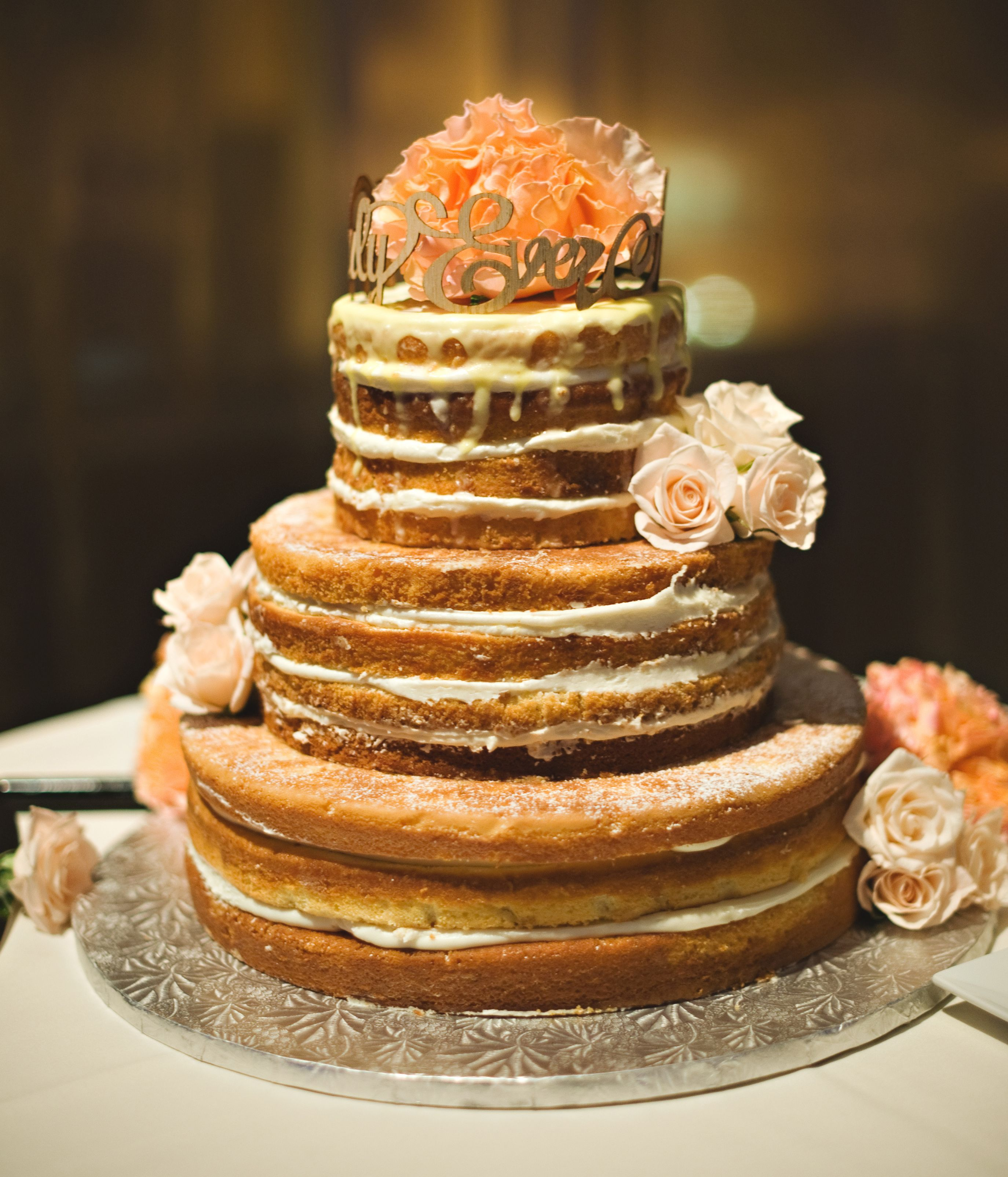 wedding cakes los angeles prices%0A Naked Deconstructed wedding cake w  lemon butter cream frosting and lemon  glaze