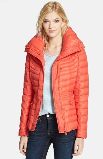 Sam Edelman 'Katherine' Wing Collar Packable Down Jacket available ...