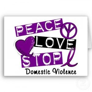 An image of Peace, Love, Stop Domestic Violence